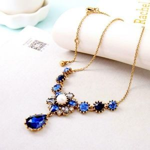 Betsey Johnson Necklace Royal Cobalt Blue NEW